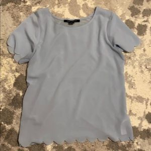 Blue short sleeve French Connection Blouse